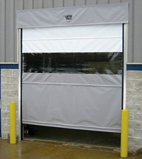 Vinyl Amp Mesh Roll Up Doors